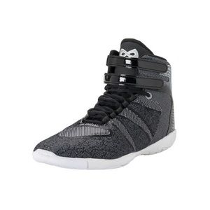 Nfinity black high top cheer shoes